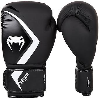 Venum Contender 2.0 Hook and Loop Boxing Gloves - Black/White