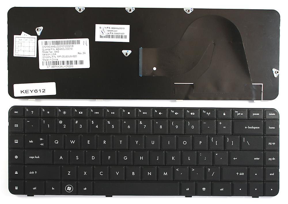 Compaq Presario CQ62-206AX noir US Layout remplaceHommest clavier d'ordinateur portable