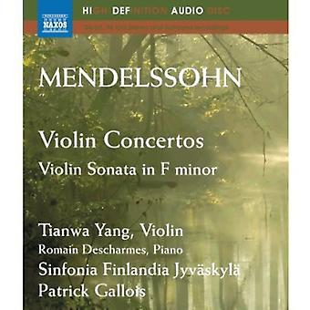 F. Mendelssohn - Mendelssohn: Vioolconcerten; Violin Sonata in F Minor [BLU-RAY] USA import