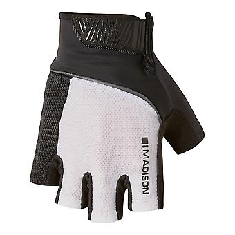 Madison White-Black 2018 Sportive Fingerless Cycling Gloves