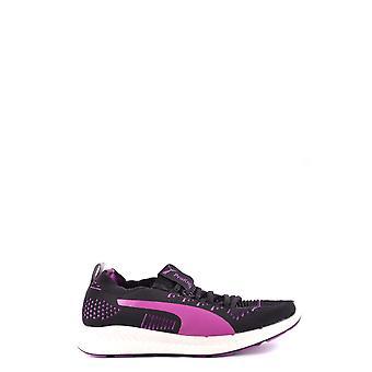 Puma Black/pink Fabric Sneakers