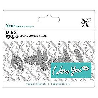Docrafts XCut Mini Sentiment Die (4pcs) - I Love You (XCU 504051)