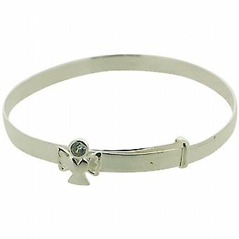 Jo For Girls 925 Sterling Silver June Birthstone Angel Alexandrite Color Bangle