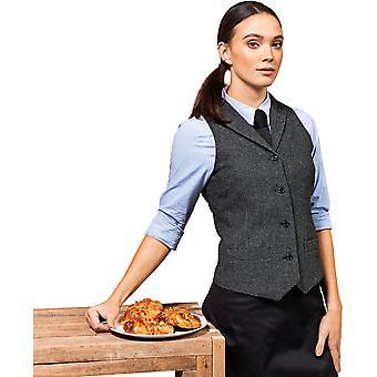 Premier Womens visgraat wol mix 4 knop vest
