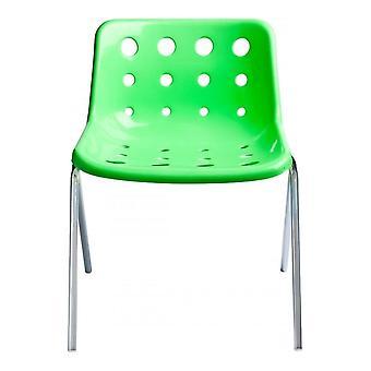 Loft Robin Day 4 Leg Green Plastic Polo Chair