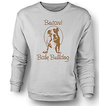 Womens Sweatshirt pass Baby Bulldog - søt