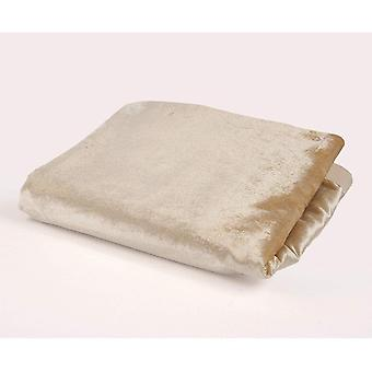 Mcalister textiles shiny champagne gold crushed velvet throw