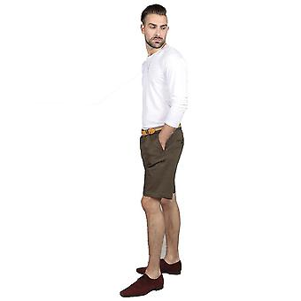 Slim fit chino shorts – olive green