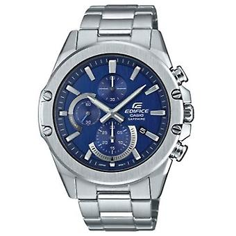 Casio Edifice Slim Style Blue Dial Silver Stainless Steel Quartz Men's Watch EFR-S567D-2AVUEF