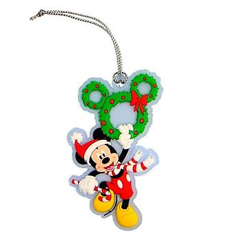 PVC Key Chain - Disney - Mickey Mouse Wreath Soft Touch 24883