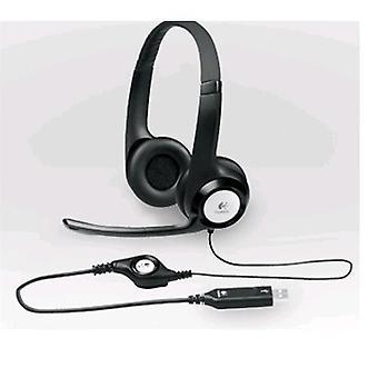 Logitech h390 hörlurar med mikrofonkabel 2,4 Mt USB connetore svart färg (981-000406)