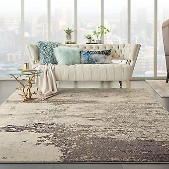 Celestial CES02 Ivory Grey  Rectangle Rugs Funky Rugs