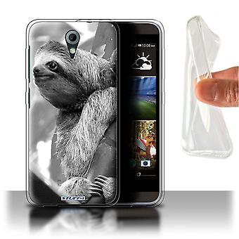 STUFF4 Gel/TPU Case/Cover for HTC Desire 820 Mini/Sloth/Mono Zoo Animals
