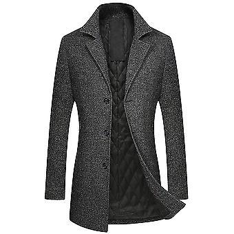 Allthemen Men's Slim Fit Caldo Autunno & Cappotto di lana invernale
