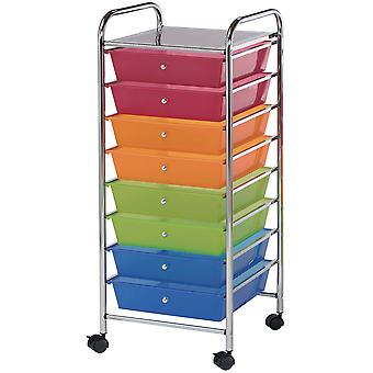 Storage Cart with 8 Drawers 16.25