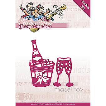Find It Trading Yvonne Creations Celebrations Die-Champagne YCD10046