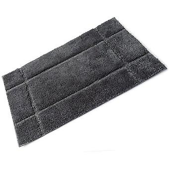 Orla Grey Slate Full Rubber Backed Microfibre Single Bath Mat 50cm x 80cm