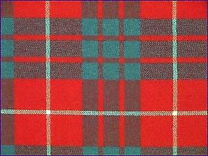Hamilton Red, Modern - Pure Wool Tartan