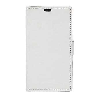 Type PU leather wallet cover for Kiritkumar Bloom 2 (white)