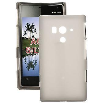 Soepele rubberen TPU hoes voor Sony Xperia acro S LT26w (grijs)