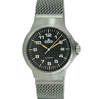 Aristo mens carbon watch automatic stainless steel 7 H 95