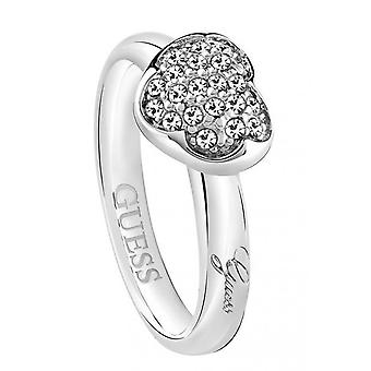 Guess ladies ring stainless steel Silver Crystal UBR72501