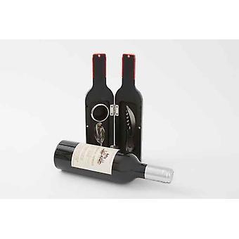 Pequeño vino botella forma Gift Set con 3 accesorios profesional