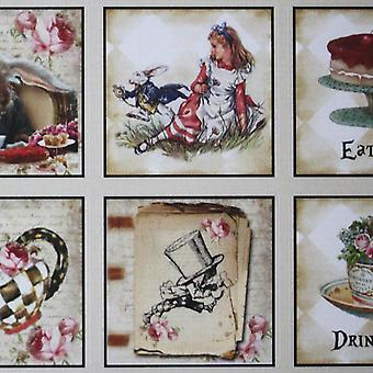 Luck and Luck Alice in Wonderland Sticker x 35 Wedding Party Drink Eat Me