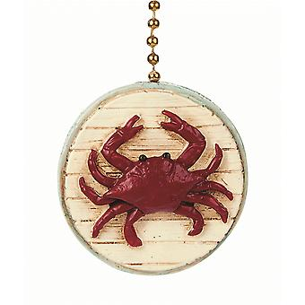 Red Beach Crab Decorative Ceiling Fan Light Dimensional Pull