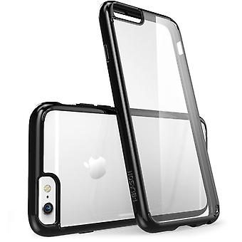 i-Blason- iphone 6 plus, Halo Series Scratch Resistant Transparent Hybrid Case with TPU Bumper-Clear Black