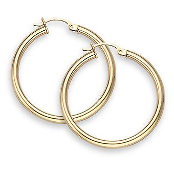 14K Gold Hoop Earrings - 1