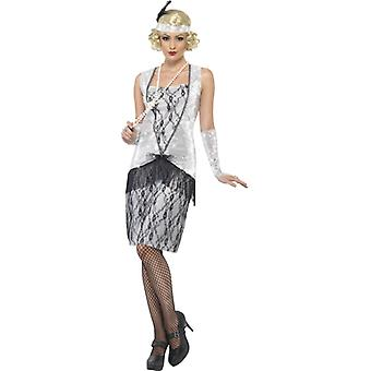 20s costume dress silver Charleston mafia