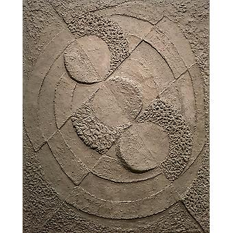Robert Delaunay - Rythmes sans fin Relief gris Poster Print Giclee