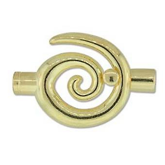 Beadsmith 34x35mm Large Swirl Glue In Toggle - 6.2mm - Gold Plated - 1pk