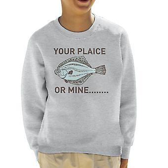 Uw schol of Mine Kid's Sweatshirt
