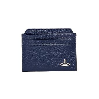 Vivienne Westwood Navy Grained Leather Cardholder