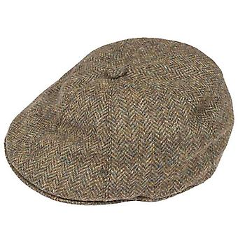 Deuken Abraham Moon Yorkshire Tweed stuurprogramma's Cap - vuren Brown