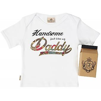 Spoilt Rotten Handsome Like Daddy Babys T-Shirt 100% Organic In Milk Carton