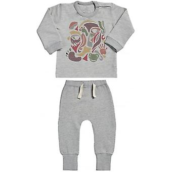 Spoilt Rotten Colour Face Collage Sweatshirt & Joggers Baby Outfit Set