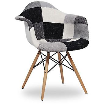 Superstudio Chair Wooden Arms -Black & White Patchwork Edition--
