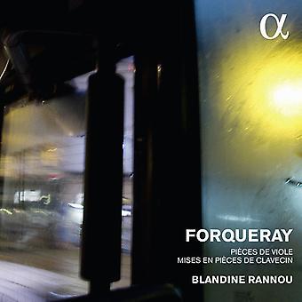 Forqueray / Rannou, Blandine - Forqueray: stykker De Viole & Mises da stykker De Clavecin [CD] USA import