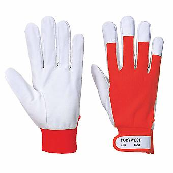 Portwest - (12 Pair Pack) Fleece Lined Rigger Hand Protection Glove
