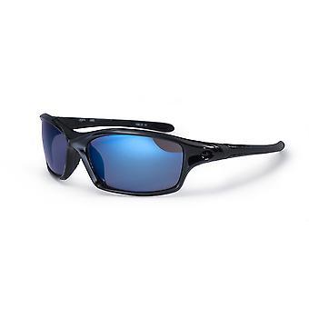 Blok Daytona solbriller - skinnende sort / blå