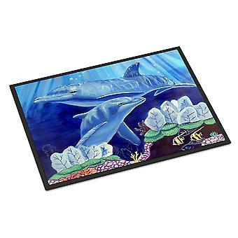 Carolines Treasures  7080MAT Dolphin under the sea Indoor or Outdoor Mat 18x27 D