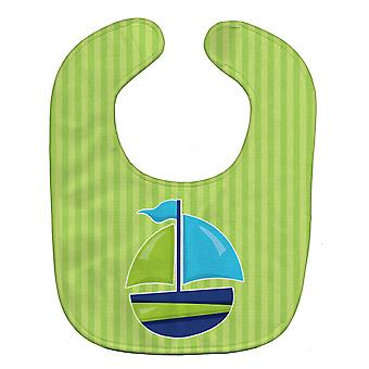 Carolines Treasures  BB8889BIB Nautical Sailboat Baby Bib