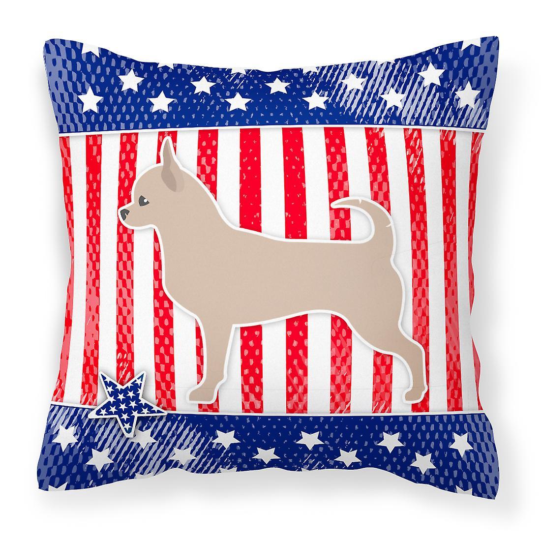 Patriotique Tissu Décoratif Chihuahua Usa Oreiller UVzMqpLSG