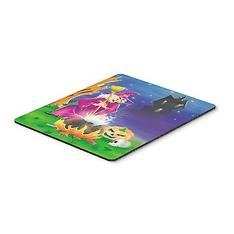 Carolines Treasures  APH2989MP Witch and her Castle Mouse Pad, Hot Pad or Trivet