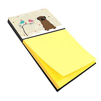 Christmas Presents between Friends Bullmastiff Sticky Note Holder