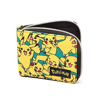 Pokemon Wallet All Over Pikachu new Official Zip yellow