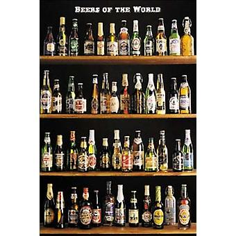 Beers Of The World Poster Poster Print
